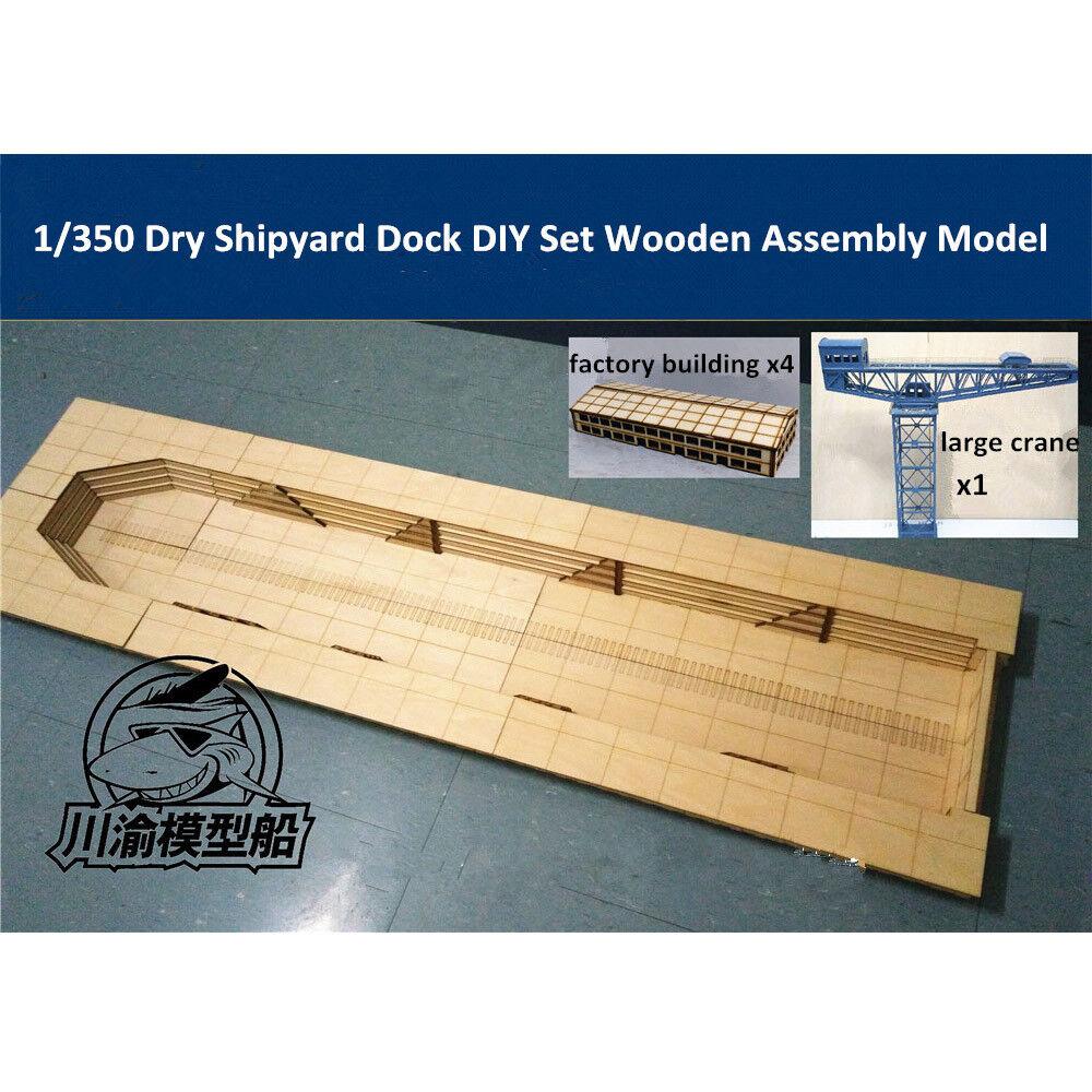 1 350 Dry Shipyard Docyard Dioram Platform DIY Set Wooden Assembly modello CY706