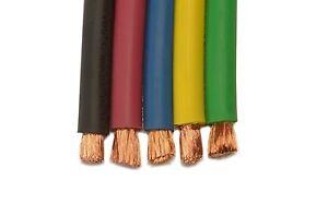 100 2 Gauge Welding Cable Black Flexible Outdoor Wire