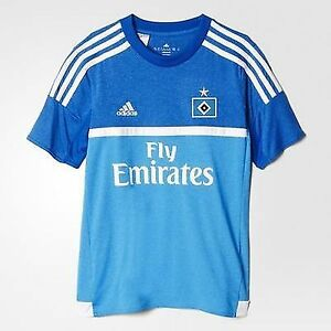 Original Adidas Football Allemagne Hambourg Away Replica Jersey bleu clair T Shirt  </span>