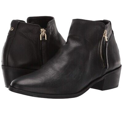 c325c72bf668 ALDO Veradia Bootie - Women s Size 6 Black Leather Gold Zipper Ankle Boot