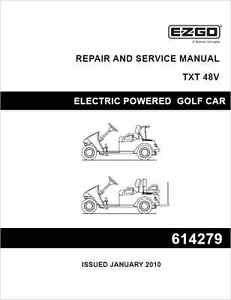 ezgo txt 48v fleet txt 48v freedom golf car repair service manual rh ebay co uk EZ Go Golf Cart Troubleshooting Club Car Parts