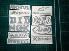 Motorcycle Swingarm Stickers GLOSS or Matt black Suzuki Kawasaki Honda Yamaha