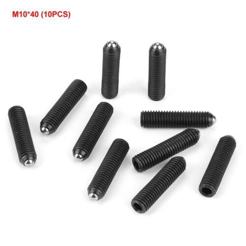 10pcs M10 Screw Thread Hex Socket Carbon Steel Ball Spring Plungers Set Durable