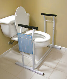 Deluxe Toilet Safety Rack Support Frame Support Assist Safe Bathroom - Bathroom toilet handles
