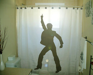 Image Is Loading Bathroom Shower Curtain Disco Man Dancing 70s 80s