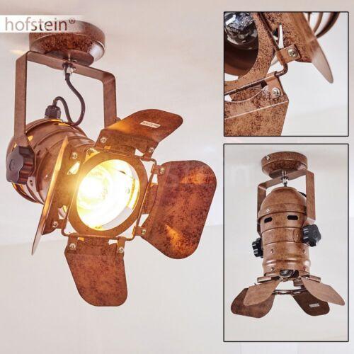 Retro Decken Strahler Lichinga Rostbraun Wohn Schlaf Zimmer Küchen Lampe Loft