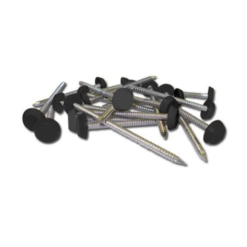 250 x 30mm Grey UPVC Poly Top Pins Plastic Headed Polytop Nails Stainless Steel
