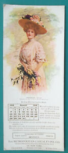 INK-BLOTTER-AUGUST-1910-Metropolitan-Casualty-NY-amp-Lovely-Maiden-Hat-Roses