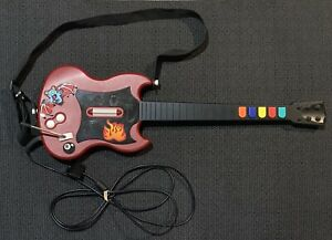 Guitar-Hero-2-Red-Octane-Gibson-PSLGH-Wired-Guitar-w-Strap-PS2-tested-original