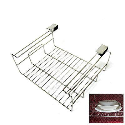 New Stainless Steel Wire Clip Under Shelf Kitchen Organizer Sink Space Saver