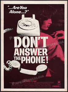DON'T ANSWER THE PHONE!__Original 1980 Trade print AD / poster__FLO LAWRENCE
