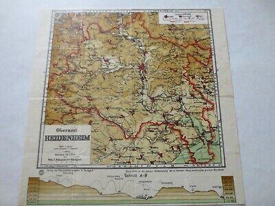 Ehrlich Oberamt Heidenheim Oberamtskarte Landkarte Karte Wilh. C. Rübsamen Einfach Und Leicht Zu Handhaben