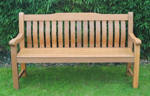 Weather Treated 3-Seater Luxury Hardwood Garden Bench from Green Tree Outdoors