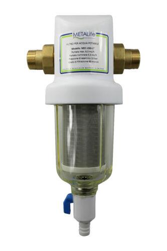 Anschluss 3//4 bis 1 1//4 Zoll Rückspülfilter MEC 316 mit Filterpatrone 89 µm