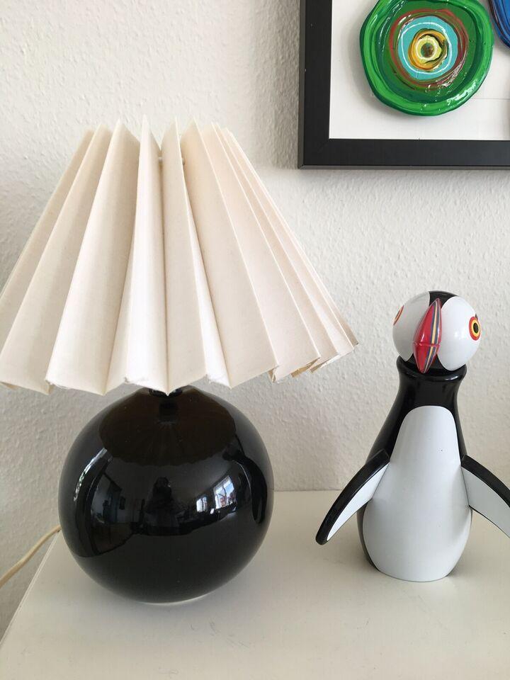 Flot bordlampe med skærm, 30 cm høj
