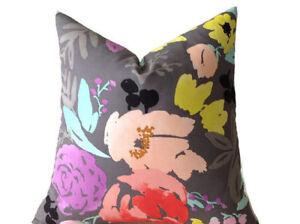 Caitlin Wilson Bridge City Blooms Pillow Cover In Gray Ebay