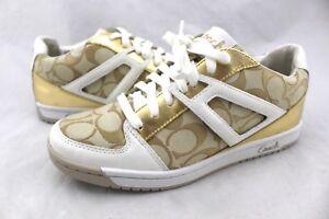 COACH-Nova-Gold-White-Heart-Signature-Jacquard-Canvas-Leather-Sneakers-8