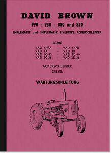 David-Brown-990-950-880-850-Bedienungsanleitung-Betriebsanleitung-Handbuch-Deut