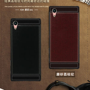 For-Sony-Xperia-XA1-Ultra-Slim-Matte-Leather-Pattern-Cover-Soft-Rubber-Case