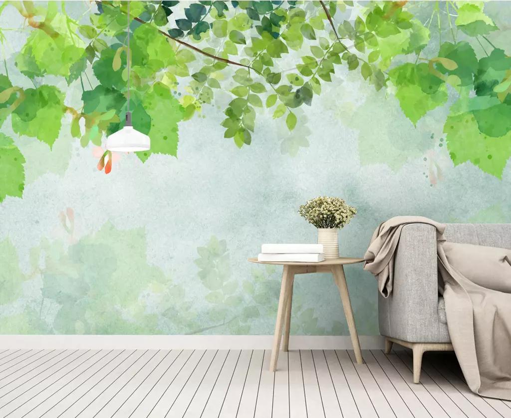 3D Grün Leaf N1129 Wallpaper Wall Mural Removable Self-adhesive Sticker Amy