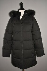 SWEATY BETTY NEW $395 North Pole Primaloft Parka Faux Fur Trim Hooded Small