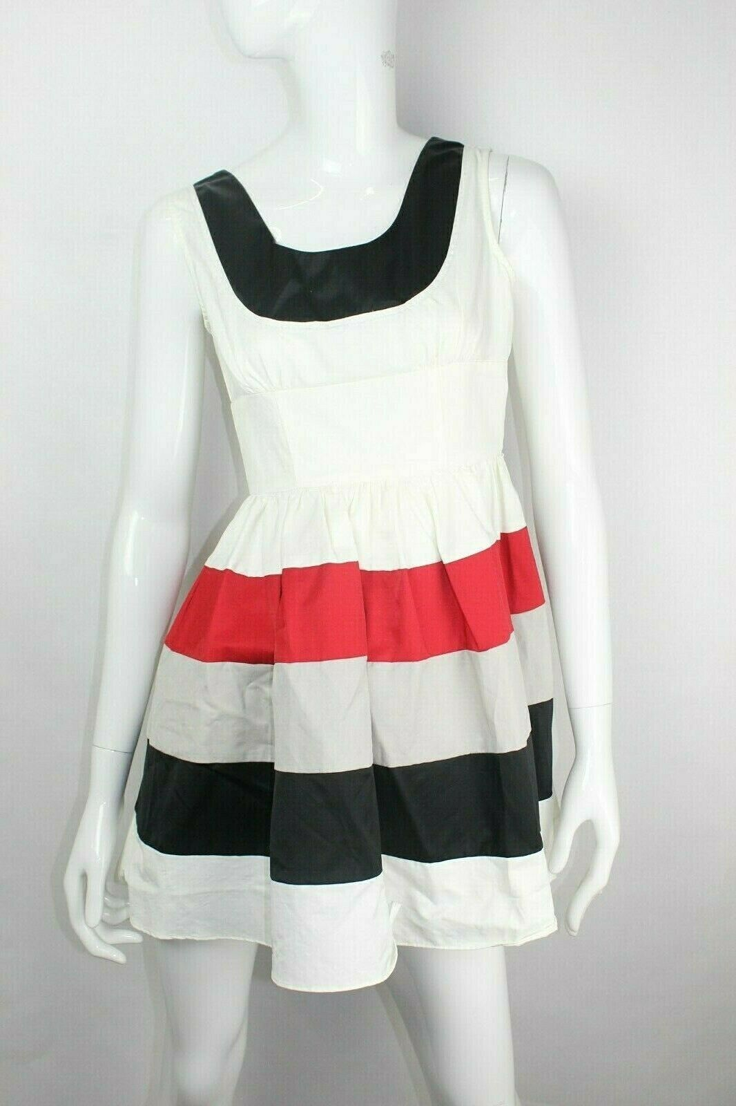 MIU MIU 100% Cotton Striped Sleeveless Dress Size  Small NEW