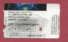 Orig.Ticket  Champions League 2011/12  BENFICA LISSABON - CHELSEA FC  1/4 FINALE