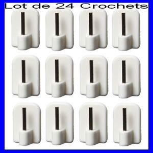well known lace up in hot products Détails sur LOT 24 CROCHETS AUTOCOLLANTS pour TRINGLE,Support à  RIDEAUX,Voilage,Fenêtre PVC