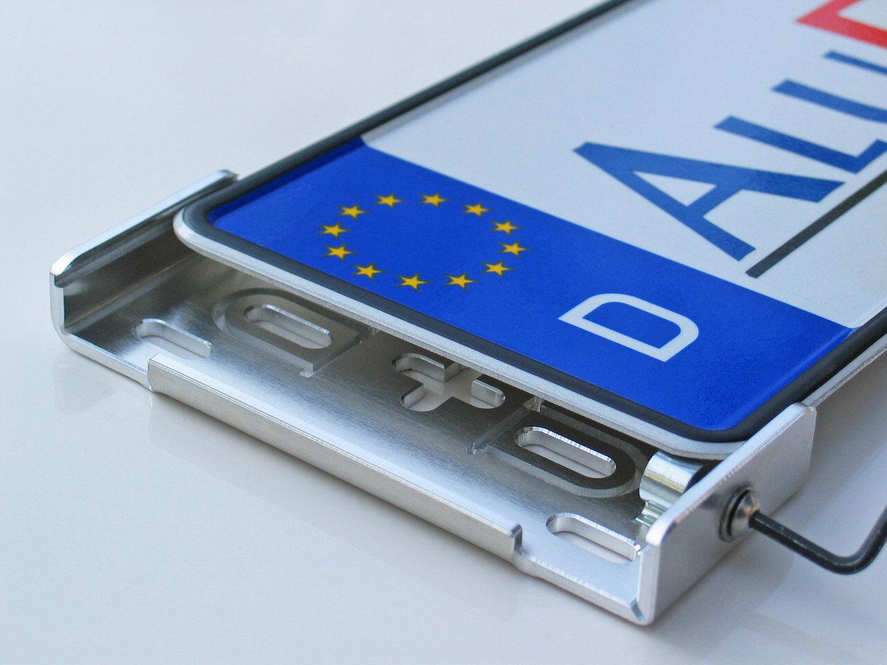 Alufixx Car Premium Silber poliert Nummernschildhalter ...