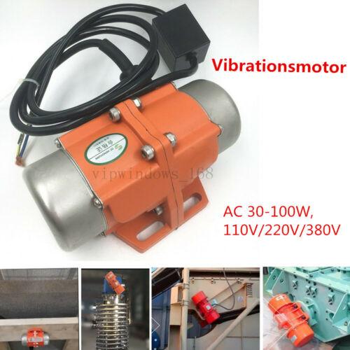 AC Vibrat Motor Vibrieren 110//220//380V Asynchron Vibrationsmotor 3600u//m Feeder