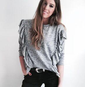 col Bloggers Petit shirt à S T roulé gris Solders Taille gpqZn