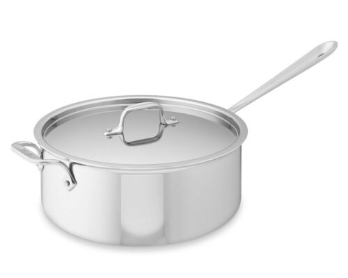 All-Clad Tri-ply Stainless-Steel 6-Qt Deep Saute Pan with Lid