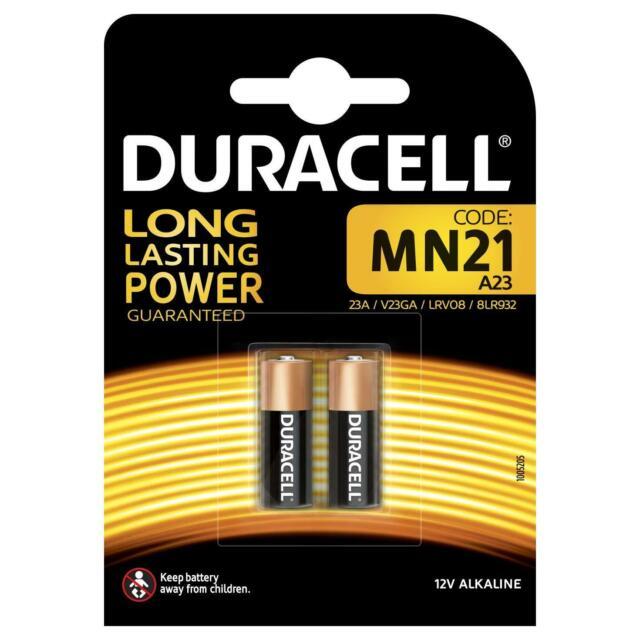 2 x Duracell MN21 A23 12V Alkaline Battery Single-Use 23A LRV08 23a V23GA 8LR932