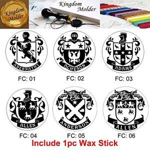 Custom wax seal stamp wedding wax stamp family crest seal wax stamp