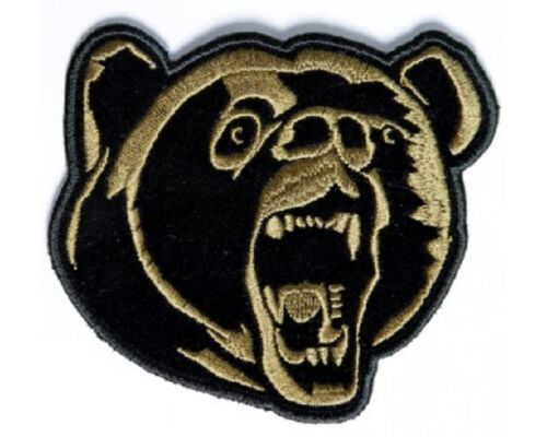 """Small BROWN GRIZZLY BEAR 4/"""" x 3.5/"""" iron on patch Biker Vest 3568D D12"""
