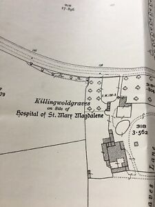 1927-Ordnance-Survey-Map-Plan-Killingwoldgraves-Hospital-Beverley-Racecourse