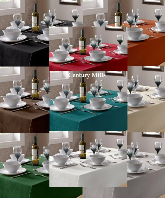 PLAIN LINEN LOOK TABLE CLOTHS & TABLE COVERS,ASSORTED COLOURS & SIZES, FREE P&P