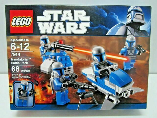 Lego Star Wars x2 Figuren Mandalorian Trooper 7914