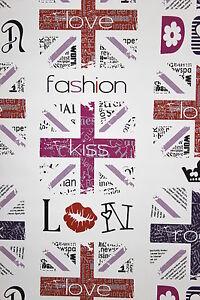 Vlies-Tapete-Fashion-Style-Jugend-Zimmer-Girls-Tapete-weiss-pink-lila-schwarz