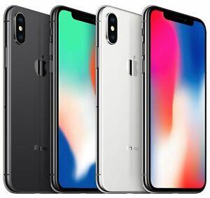 Apple iPhone X - Factory GSM Unlocked - 64GB / 256GB - Gray / Silver - Very Good