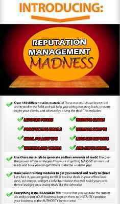 Reputation Management Madness- 150+ Sales Material Toolkit on CD