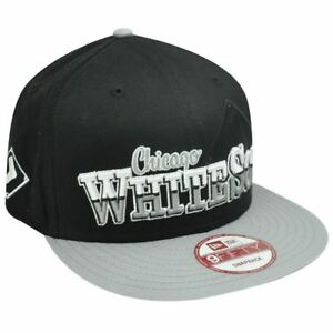 a9eb6c1cdeb Details about MLB HAT CAP NEW ERA NINE 9 FIFTY CHICAGO WHITE SOX FLAT BILL  SNAPBACK BLACK GRAY