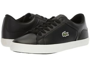 4e1f46a8bb42 NEW Mens Lacoste Lerond 418 1 Sneaker Black White Leather Shoes ...