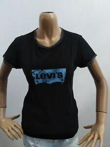 Maglia-LEVIS-Donna-taglia-size-L-maglietta-t-shirt-woman-cotone-p-5585