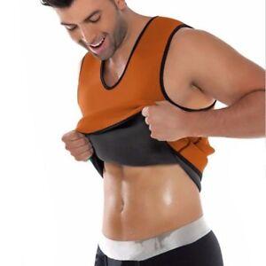 Men/'s Neoprene Body Shaper Waist Trainer Slimming Corset Vest Sauna Thermo Sweat