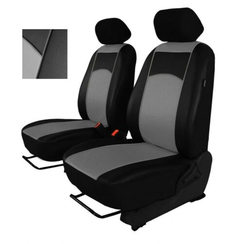 Grey Eco-Leather Universal Front Seat Covers fit NISSAN NAVARA D40 2004-2015