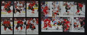2018-19-Upper-Deck-UD-Calgary-Flames-Series-1-amp-2-Team-Set-of-14-Hockey-Cards