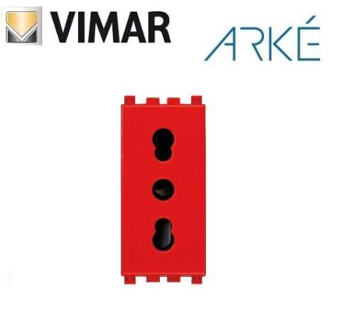 PRESA BIVALENTE 2P+T 16A VIMAR ARKE ROSSO 19203.R