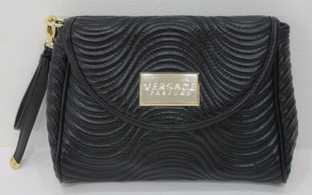ef847244fe49 Versace Parfums Black Quilted Evening Hand Bag Clutch Women Pouch ...