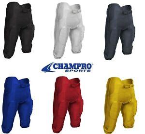 CHAMPRO Adult Terminator Integrated Football Pants Royal Medium